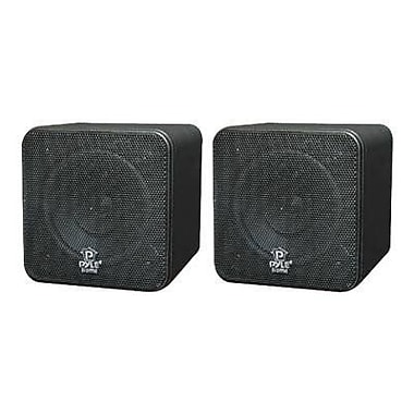 Pyleaudio® PCB4 Mini Cube Speakers, Black