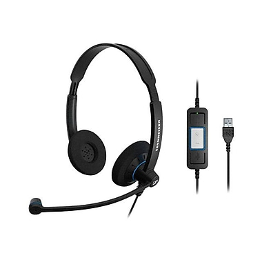 Sennheiser SC 60 USB CTRL 504549 Wired Headset, Black