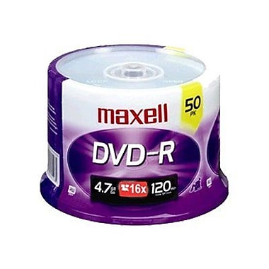 Maxell 638011 4.7 GB DVD-R Spindle, 50/Pack