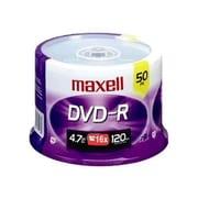 Maxell 4.7GB 16X DVD-R, Spindle, 50/Pack