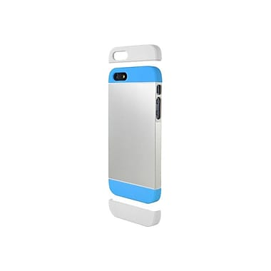 Cygnett Alternate Two Tone Dockable Case For iPhone 5 + 5s, Silver/Blue