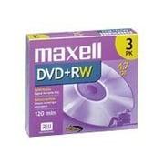 Maxell 4.70GB DVD+RW, Jewel Case, 3/Pack