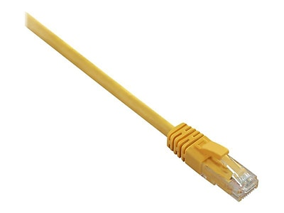 V7 V7N3C5E Snagless Molded Cat5e Patch Cable 3 Yellow