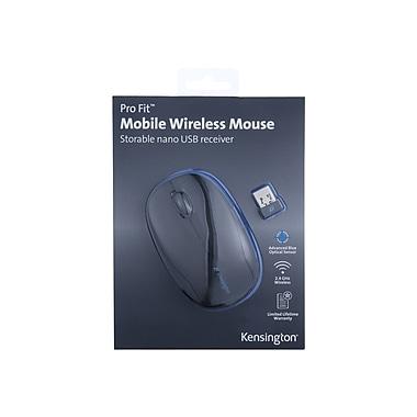 Kensington K72366US USB Wireless Advanced Blue Optical Mouse, Black