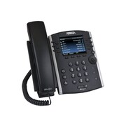 Adtran 1200854G1 VVX 400 12-Line Corded VOIP Telephone, Black