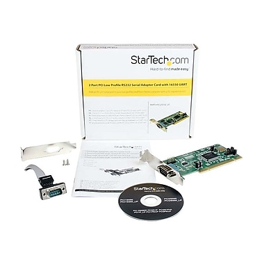 StarTech PCI2S550_LP 2 Port PCI Low Profile Serial Adapter Card