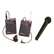 "Azden® 3.3""H x 2.4""W x 0.85""D PRO VHF Lavalier and Wired Hand-Held Wireless Microphone System"
