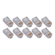 4XEM™ Cat5e RJ45 4 Plugs Round Solid Stranded Conductor, 50/Pack