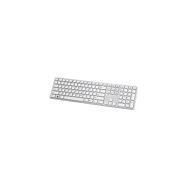 Buslink® KR-6402 i-Rocks Aluminum Stylish X-Slim Soft Touch/Tactile Feedback Keyboard, White