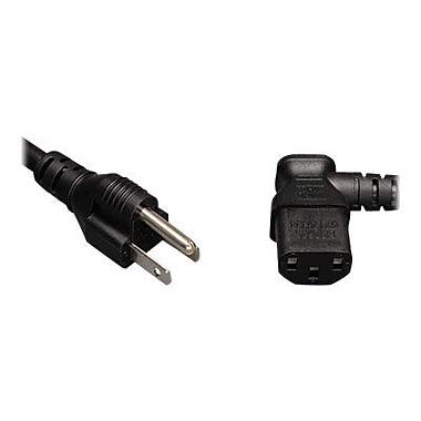 Tripp Lite P006-006-13RA 6' NEMA 5-15P to Right Angle IEC-320-C13 Standard Computer Power Cord, Black