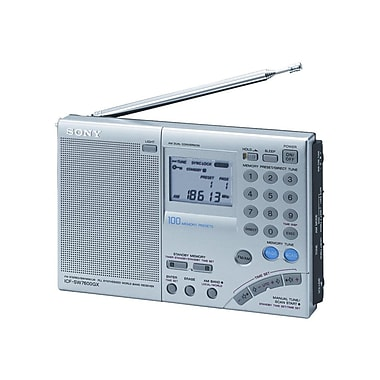 Sony ICFSW7600GR Portable FM Stereo Digital World Band Receiver Radio