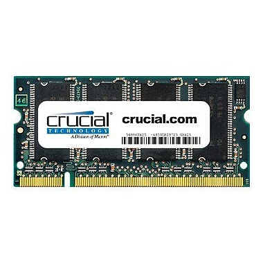 Crucial 512MB (1 x 512MB) DDR (200-Pin SO-DIMM) DDR 333 (PC2700) Notebook Memory Module