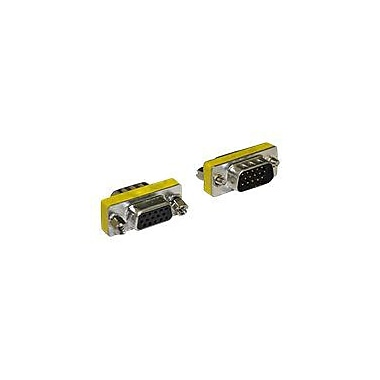 4XEM™ Male to Female VGA Adapter, Silver/Yellow