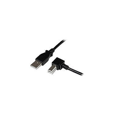 Startech.com® 6.6' USB 2.0 A/Right Angle B Cable, Black