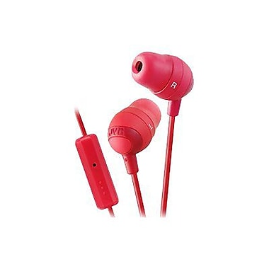 JVC Marshmallow HAFR37R In-Ear-canal Headphone with Mic, Red
