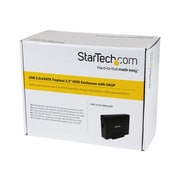 StarTech.com® S3510BMU33ET External Trayless Hard Drive Enclosure With UASP, Black