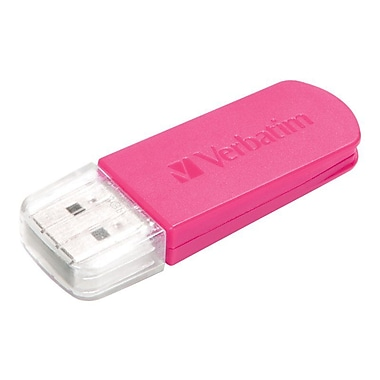 Verbatim® Store 'n' Go® Mini 8GB USB 2.0 Flash Drive, Hot Pink