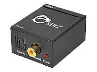 Siig Digital to Analog Audio Converter, Black