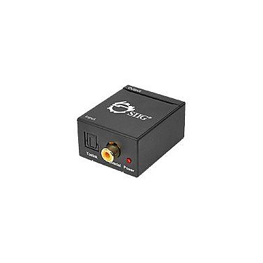 Siig® Digital to Analog Audio Converter, Black