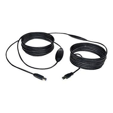 Tripp Lite 25' USB 3.0 Male to Male SuperSpeed Active Repeater Cable, Black