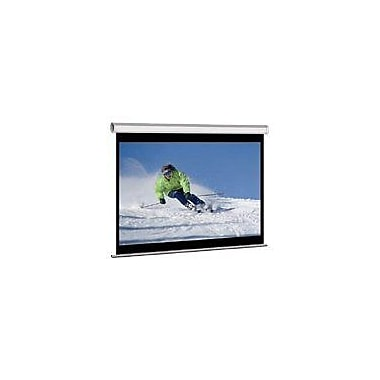 Elite Screens® Manual Series 85in. Pull Down Projection Screen, 1:1, White Casing
