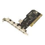 Syba® SD-NECU2-5E1I 6 Port USB 2.0 PCI Card USB Adapter
