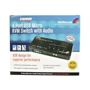 StarTech SV411KUSB USB KVM Switch Kit With Audio And Cables, 4 Ports
