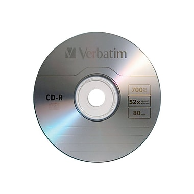 Verbatim® 700MB CD Recordable Media, Slim Case, 20/Pack
