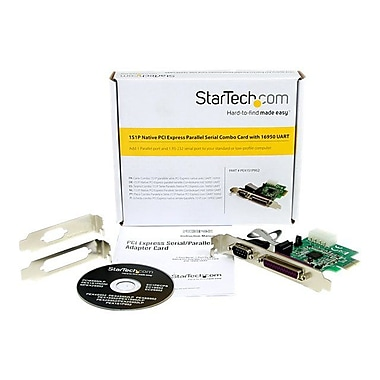 StarTech PEX1S1P952 Native PCI Express Parallel Serial Combo Card With 16950 UART