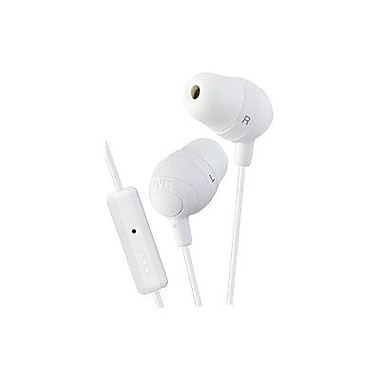 JVC Marshmallow HAFR37W In-Ear-canal Headphone with Mic, White