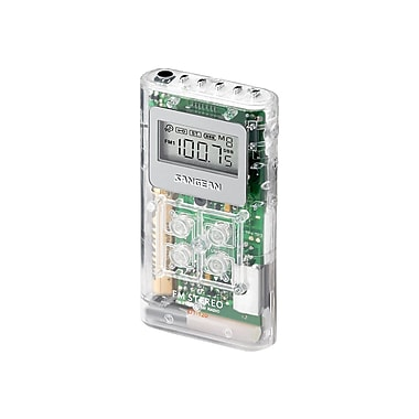 Sangean DT-120 AM/FM Pocket Radio, Clear