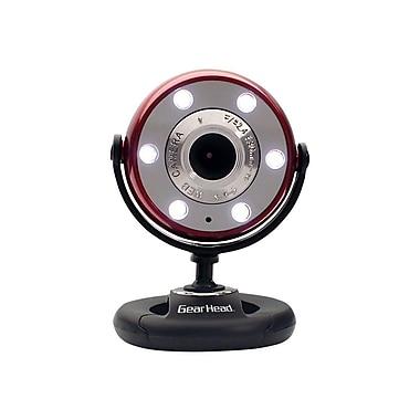 Gear Head™ WCF2750HD-CP10 Webcam, 720p HD, 5 MP, Red