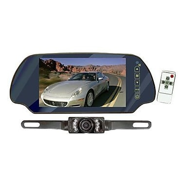 Pyle® PLCM7200 7in. TFT Mirror Monitor With License Plate Mount Rear View Night Vision Camera