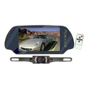 "Pyle® PLCM7200 7"" TFT Mirror Monitor With License Plate Mount Rear View Night Vision Camera"
