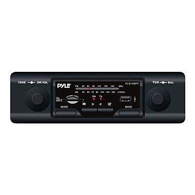 Pyle® PLR14MPF 160W Marine In-Dash AM/FM-MPX MP3 Flash Audio Player, Black