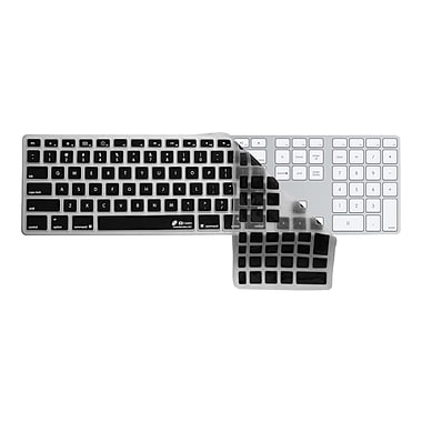 KB Covers Checkerboard Keyboard Cover With Black Buttons and Number Pad For Apple, Clear