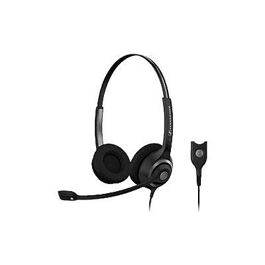 Sennheiser SC 260 Circle 2-Ear Wideband Dual Sided Headset with ED, Black/Silver
