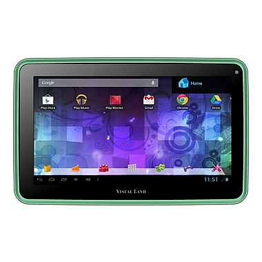 Visual Land Prestige Pro 7D, 7in. Tablet, 8 GB, Android Jelly Bean, Wi-Fi, Green