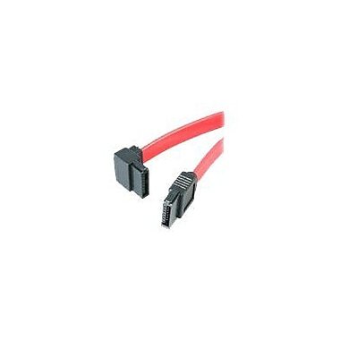 4XEM™ 12in. Standard to Left Angle SATA Female/Female Cable, Red