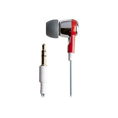 ifrogz® Zagg® Earpollution Ozone Personal Earbuds, Red/Silver