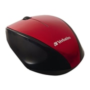 Verbatim 97995 USB Wireless Multi-Trac Blue LED Optical Mouse, Red