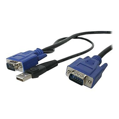 STARTECH.COM® SVECONUS10 2-In-1 Ultra Thin USB VGA KVM Cable, 10'