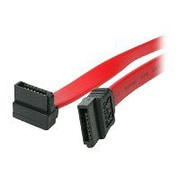 "4XEM™ 24"" Standard to Right Angle SATA Female/Female Cable, Red"