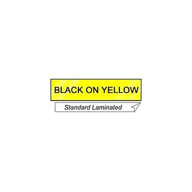 Brother® TZE Lettering Label Tape, 1in.(W) x 26.2'(L), Black On Yellow