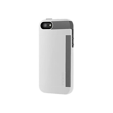 Incipio® Credit Card Hard Shell Case for Apple iPhone 5, Optical White/Charcoal Gray