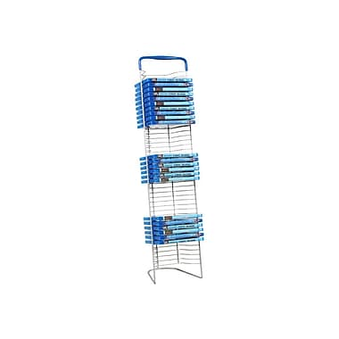 Atlantic 6373-5593 Nestable DVD Wire Rack, Silver, Black