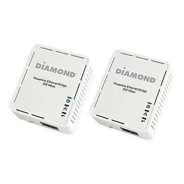 Diamond Multimedia HP500AV 500 Mbps AV Powerline Ethernet Adapter