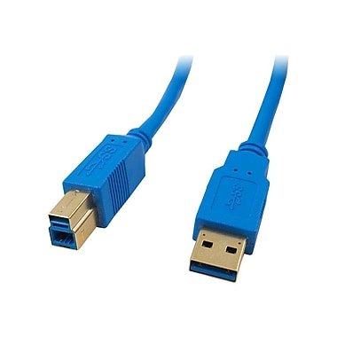 4XEM™ 10' SuperSpeed USB 3.0 A/B Cable, Blue