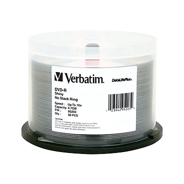 Verbatim 97281 4.7 GB DVD-R Spindle, 50/Pack