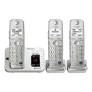 Panasonic KX-TGE263S Single Line Cordless Office Telephone, Silver